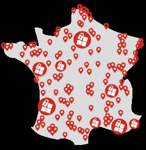 Carte de France des partenaires Annexx Business Service